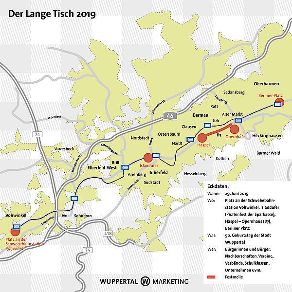 Wuppertal Karte Stadtteile.Der Lange Tisch 2019 In Wuppertal Das Fest